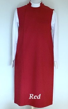 red polyester apron