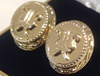 Gold Plated Mitre Cufflinks
